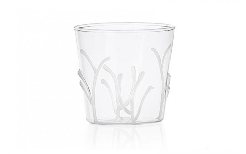 bicchiere rami bianchi