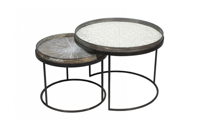 Set tavolini Round Tray Holder Notre Monde