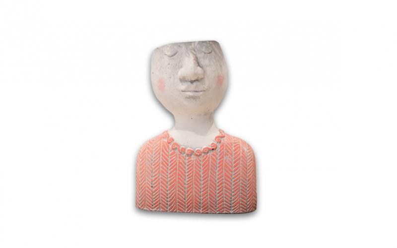 Vaso Testa corpo rosa (Vuoto)