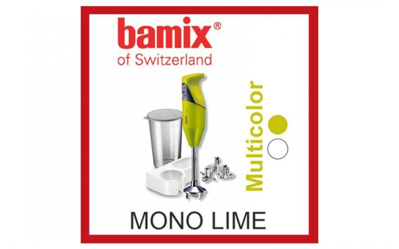 """Mixer universale """"Mono"""" di Bamix colore Lime"""