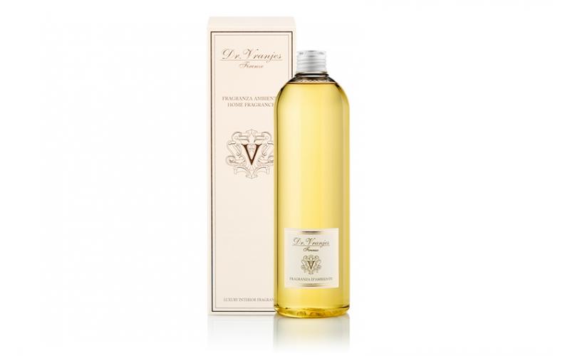 Ricarica di profumo Dr Vranjes 500ml con bastoncini bianchi arancio e cannella