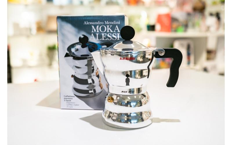 Caffettiera Moka Alessi 3 Tazze  by Alessandro Mendini