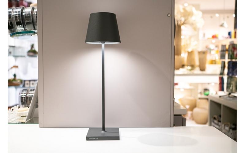 Lampada da tavolo Led di Zafferano collezione Poldina colore Grigio