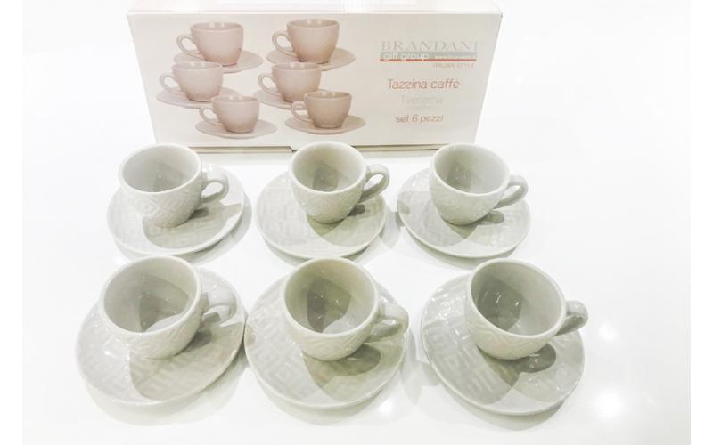 Servizio da 6 di tazzine da caffè Teorema Brandani
