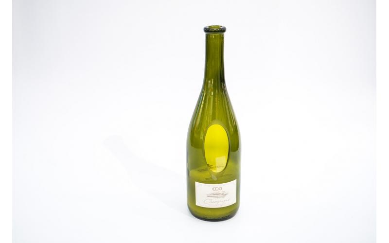 Candela profumata EDG al sentore di Champagne in bottiglia di vino