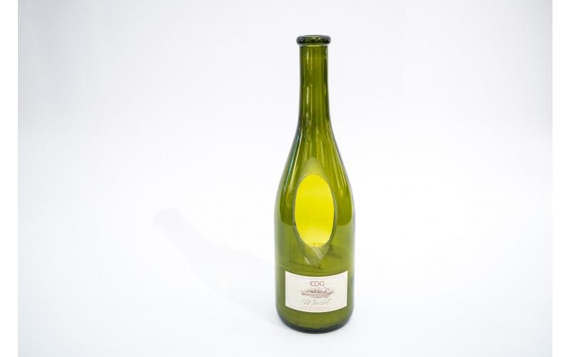 Candela profumata EDG al sentore di Merlot in bottiglia di vino