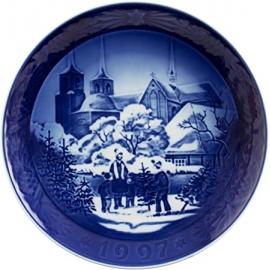 Piatto di Natale 1997 in porcellana Royal Copenhagen