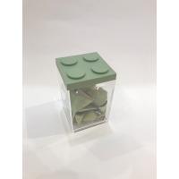 Contenitore Omada Brick Store in stile Lego colore Sage Green (verde salvia) capacità 1 L