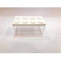 Contenitore Omada Brick Store in stile Lego colore White (bianco) capacità 1,5 L