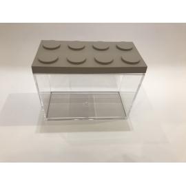 Contenitore Omada Brick Store in stile Lego colore Dove Grey (tortora) capacità 1,5 L