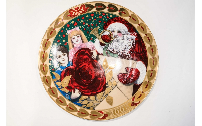 Piatto Royal Copenhagen Christmas Cards 2008 - Hearts of Christmas Plate Series