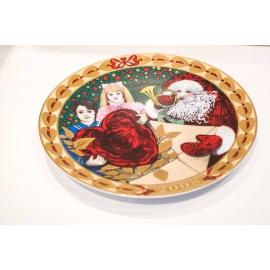 Piatto Royal Copenhagen Christmas Cards 2008 - Hearts of Christmas Plate Series