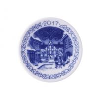 "Plaquette in porcellana "" hotel kirstine"" 2017 Royal Copenhagen"