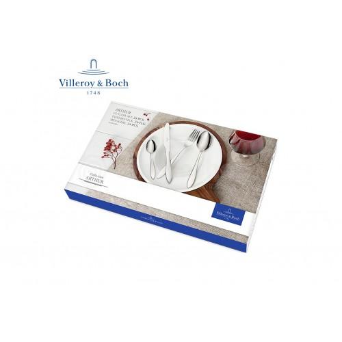 Villeroy & Boch Arthur Servizio di Posate 24 Pz Acciaio Inox
