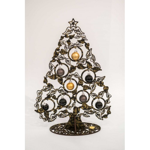 Albero di Natale Köln Schatze nero e oro