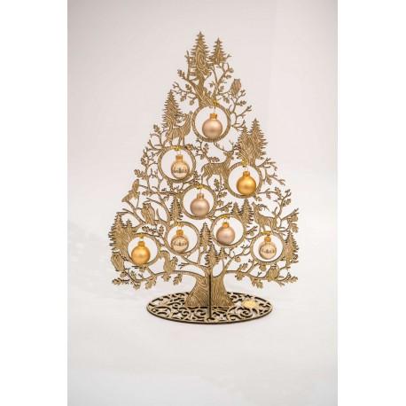 Albero di Natale Köln Schatze tortora e oro