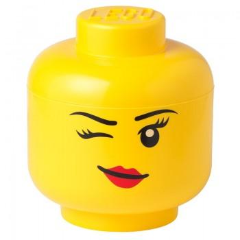 Contenitore Lego Storage Head Winky Girl S