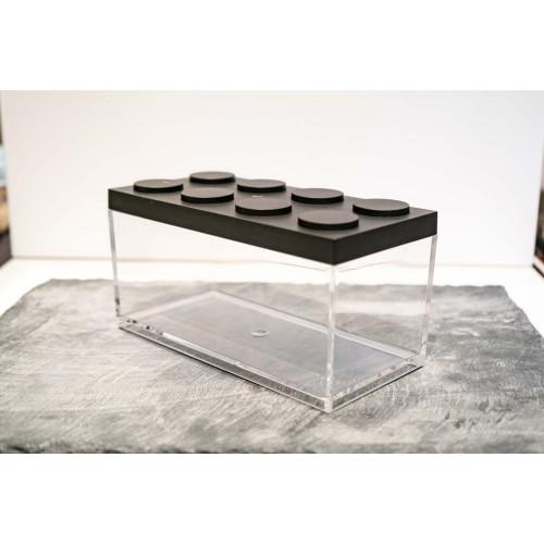 Contenitore Omada Brick Store in stile Lego colore Black (nero) capacità 1,5 L