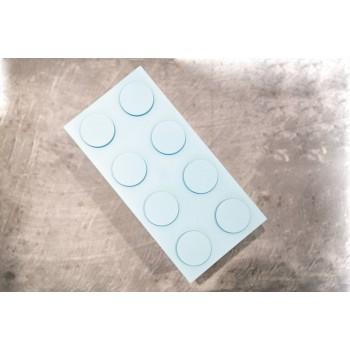 Contenitore Omada Brick Store in stile Lego colore Sky dust (azzurro polvere) capacità 1,5 L