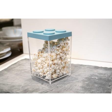 Contenitore Omada Brick Store in stile Lego colore White (bianco) capacità 1 L