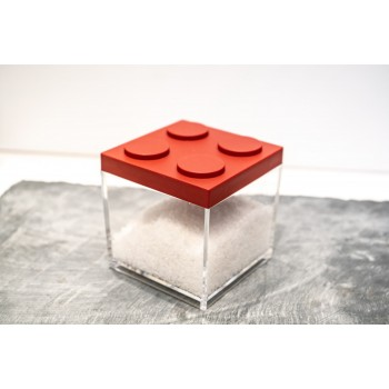Contenitore Omada Brick Store in stile Lego colore Red (rosso) capacità 0,5 L