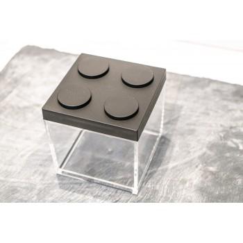 Contenitore Omada Brick Store in stile Lego colore Black (nero) capacità 0,5 L
