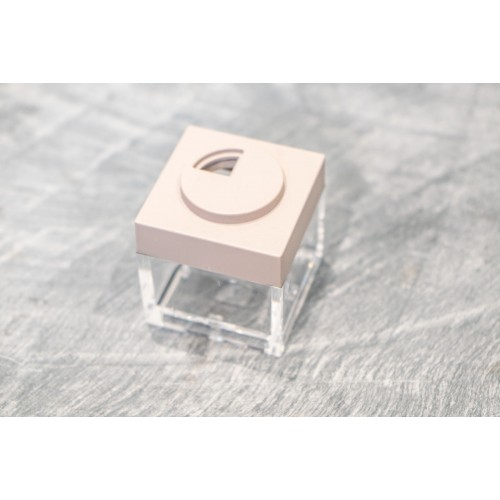 Contenitore Omada Brick Store in stile Lego colore  Dove Grey (tortora) capacità 10 cl