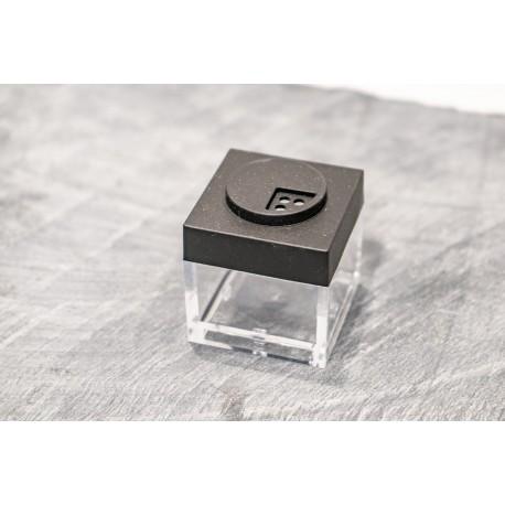 Contenitore Omada Brick Store in stile Lego colore Black (nero) capacità 10 cl