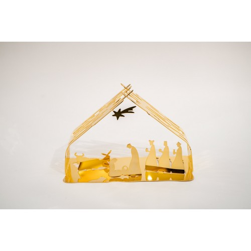 Presepe Alessi Bark Crib dorato