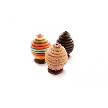 Stampo in silicone 3D Egg Choc per uovo di cioccolato Silikomart