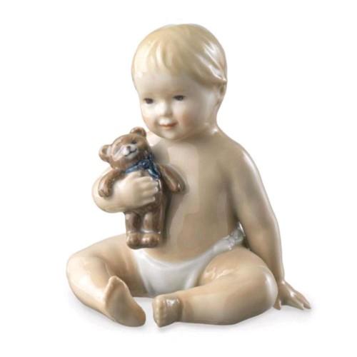 Neonato con orsetto Royal Copenhagen