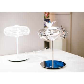 Lampada da tavolo Alessi collezione Bark in acciaio inox