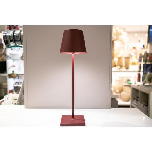 Lampada da tavolo Led di Zafferano collezione Poldina colore Bordeaux