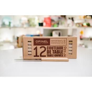 Set 12 coltelli tavola legno chiaro Opinel