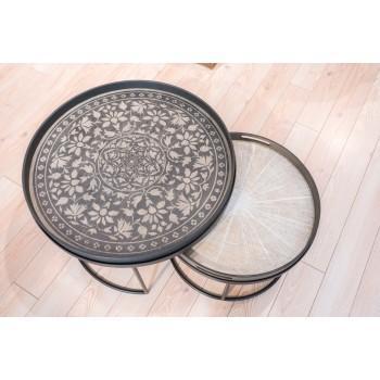 Set tavolini Round Tray Holder Notre Monde