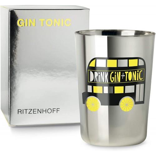 Bicchiere Ritzenhoff gin tonic Ginglas di Julien Chung (Londra)