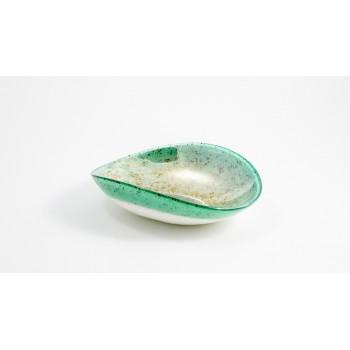 Pieghetta mignon avorio e verde acqua Smeraldo Yalos Murano