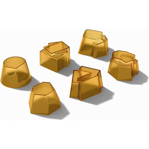 """Set 6 stampi Alessi in silicone """"il tempo della festa"""" colore mango"""