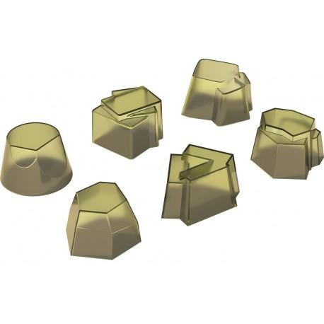 """Set 6 stampi Alessi in silicone """"il tempo della festa"""" colore kiwi"""