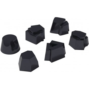 """Set 6 stampi Alessi in silicone """"il tempo della festa"""" colore nero"""