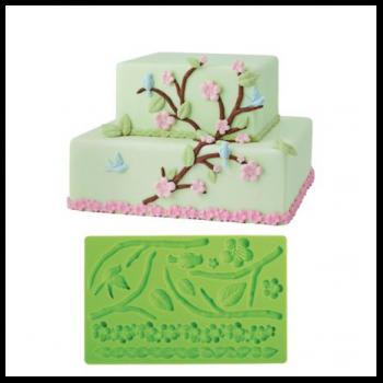 Stampo verde per fondente trama natura