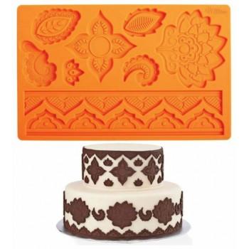 Stampo arancio per fondente trama disegno