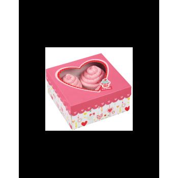 Set scatole a cuore porta cupcake