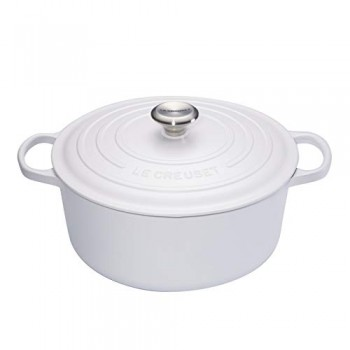 Cocotte in ghisa 24 cm bianco cotton Le Creuset