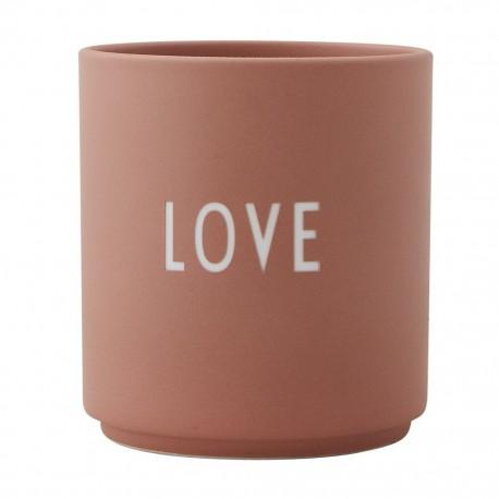 Tazza - Porta Candela Love Design Letters