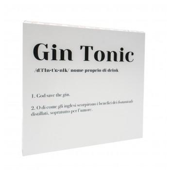Quadretto in cartone Gin Tonic Essent'ial