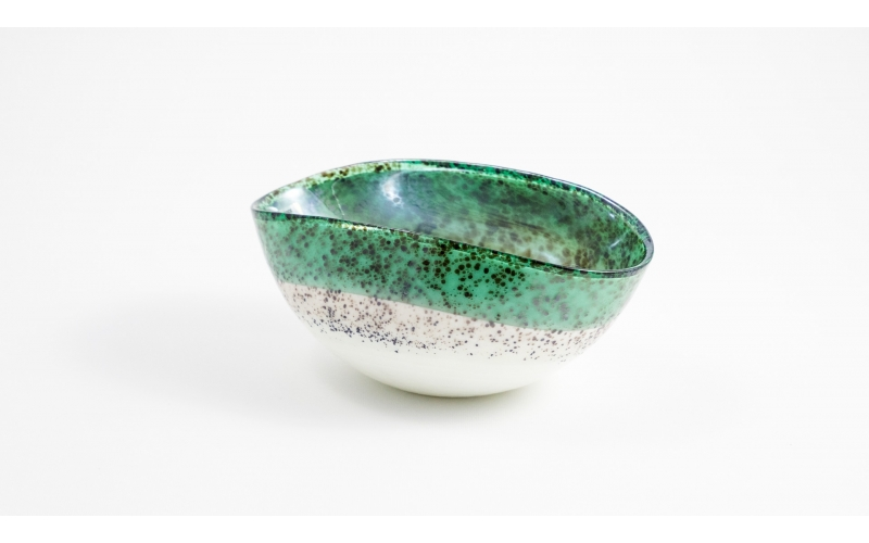 Cartoccetto mignon avorio e verde acqua Smeraldo